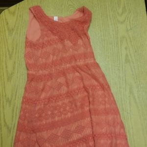 Lovely Coral lace dress